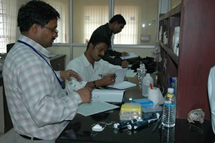 Prof Sanjiv Kumar performing DNA finger printing